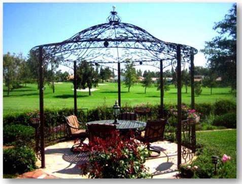 wrought iron gazebo 1